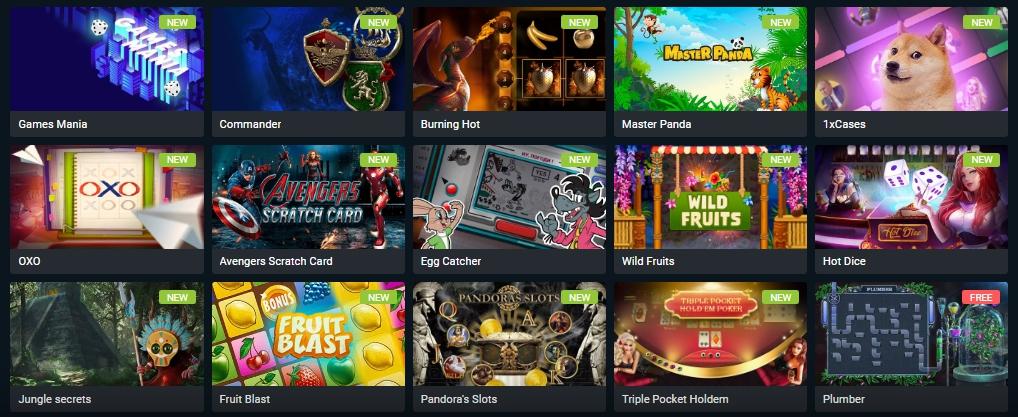 1xBet casino platform